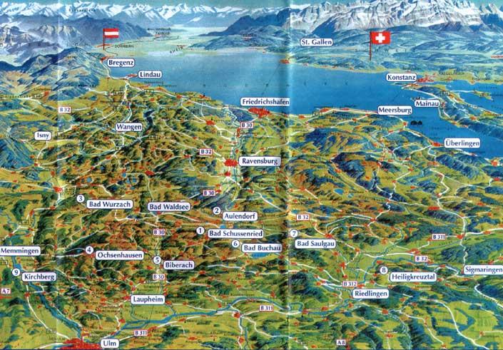 Ferienwohnungen pfauenh usle familie waschull rast for Bodensee karte